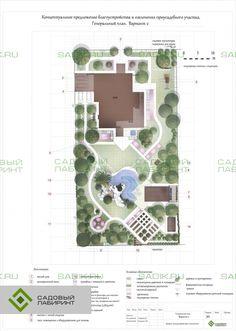 Эскизный проект сада для молодой семьи | Портфолио Sadik.ru