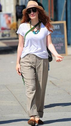 Get Inspired by These 12 Street Style Stars Wearing Chic Summer Hats - Jessica Chastain from InStyle.com