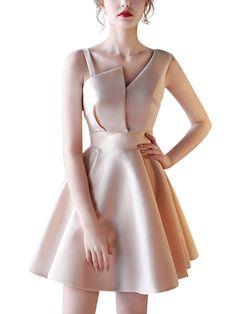 Khaki asymmetrischen Ausschnitt Skater Abendkleid – Jeska Campbell – Join in the world of pin Elegant Dresses, Sexy Dresses, Fashion Dresses, Casual Dresses, Short Beach Dresses, Evening Dresses Online, Dress Online, Backless Maxi Dresses, Ladies Dress Design
