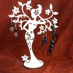 Stand rack for jewelry+ Box. Jewelry Stand, Jewelry Box, Diy Jewelry, Free Vectors, Laser Cut Files, Plans, Jewellery Display, Jewelry Organization, Woodworking Crafts