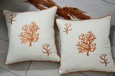 Coral Embroidery Pillowcase Decorative For Livingroom #coral #garden #bedroom #patio #outdoor #embroidered #pillowcase #serviette #modern #hometextile Coral Garden, Garden Bedroom, Embroidered Pillowcases, Tablecloths, Home Textile, Pillow Cases, Patio, Throw Pillows, Embroidery