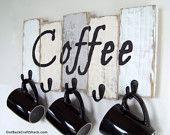 Coffee Mug Holder; Coffee Mug Rack; Kitchen Decor; Kitchen Organization; Rustic Decor; Coffee Cup Rack; Mug Rack; Custom orders welcome!