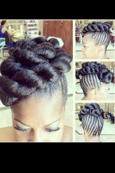 Crochet Bun Hairstyles : 1000+ images about Hairstyles on Pinterest Crochet braids, Faux bun ...