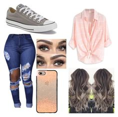"""""""OOTD"""" by kaylee-hanover on Polyvore featuring Casetify and Converse"""