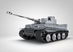 Tiger 131 1/6th scale model by Armortek. Illustrated in 3D