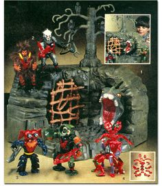 "THE MASTERS OF THE UNIVERSE ""FRIGHT ZONE"" PLAYSET! from X-Entertainment - Waxing About Christmas Wish BooksL 1985 Edition.  #MOTU"