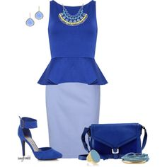 Blue/Alice Olivia/Wide Straps Contests, created by amybwebb on Polyvore