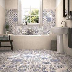 Carrelage vintage sol et mur skyros - realonda en 2019 Marble Tile Bathroom, Kitchen Wall Tiles, Bathroom Floor Tiles, Wall And Floor Tiles, Bathroom Images, Small Bathroom, 1930s Bathroom, Bathroom Vintage, Diy Bathroom Decor