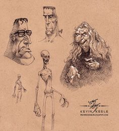 Character Designs by Kevin Keele