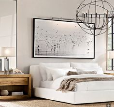 I am finding a way to get this! Overall: x Print: x Photogra… I am finding a way to get this! Overall: x Print: x Photographer Nathan DeHart focuses on the natural world through a lens of black and white. These images were taken at dusk as. Bedroom Inspo, Home Decor Bedroom, Master Bedroom, Bedroom Ideas, Restoration Hardware Bedroom, Modern Bedroom Design, Contemporary Bedroom, Luxurious Bedrooms, House Design