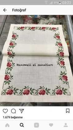 This post was discovered by kaneviçe. Discover (and save!) your own Posts on Unirazi. Cross Stitch Heart, Cross Stitch Borders, Cross Stitch Flowers, Cross Stitching, Cross Stitch Patterns, Filet Crochet, Crochet Lace, Hobbies And Crafts, Diy And Crafts