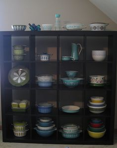 Need to buy a shelving unit for Pyrex. Don't love this particular one, but it does give me an idea...