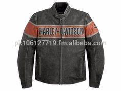H-D Motorclothes Harley-Davidson Victory Lane Lederjacke - Distressed Leather Jacket, Men's Leather Jacket, Leather Men, Black Leather, Real Leather, Cowhide Leather, Vintage Leather, Motorbike Jackets, Motorcycle Gear