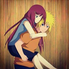 Lovely.  Young Minato Namikaze and Kushina Uzumaki.  Naruto's parent's.