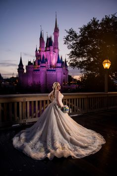 An Alfred Angelo dress will make you feel like a princess right out of a fairy tale. Photo: Stephanie, Disney Fine Art Photography
