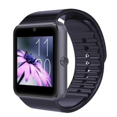 Bluetooth Smart Wrist Watch SIM Phone Mate Watch for IOS Android phone. Dimension 48*40*11.8 mm / Color : Black/Silver. Appearance vogue,extreme thin;Thickness of the whole machine: 11.8mm;## HD display ,2.5D arc hign sensitive capacitive touch screen,Anti-sweating, delicate and beautiful; prescision OGS laminating process. Anti-sweating frosted surface treatment,acme ergonomic concave and convex design , waering more comfortable ## Metal frame, strong and durable. Ultrasonic sound cavity...