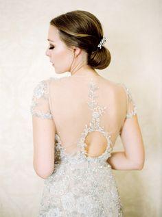 the hair... the gown... | Photography: Peaches And Mint   peachesandmint.com Wedding Dress: Inbal Dror   inbaldror.co.il/en
