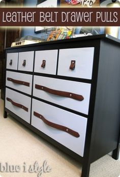 leather drawer pulls diy
