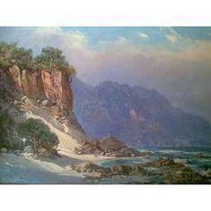 GABRIEL DE JONGH    60X90cm   (painted 1974) for R19,999.00 Love Art, All Art, Oil Paintings, Landscape Paintings, Gabriel, South Africa Art, South African Artists, Artist Art, Art Oil