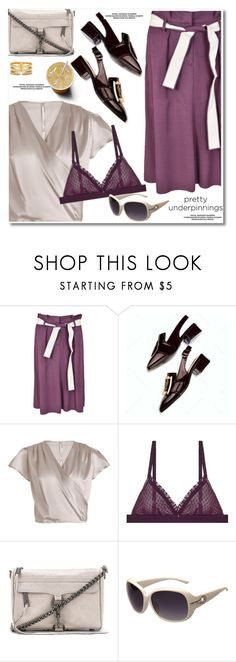 """""""Summer workwear"""" by fshionme ❤ liked on Polyvore featuring Dorothee Schumacher, Clo Intimo, Rebecca Minkoff and prettyunderpinnings"""