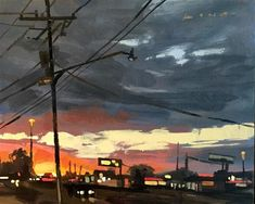 "Daily Paintworks - ""Split Sky, New Orleans"" - Original Fine Art for Sale - © Chris Long"