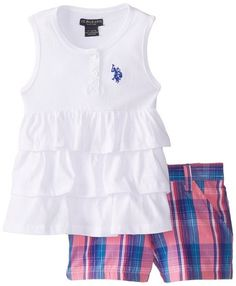 Short Blanco, Grey Tank Top, Plaid Shorts, Outfit Sets, Girl Outfits, Polo, Tank Tops, Clothes, Clothing Sets