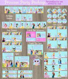 Disney Princess Party Decorations Princess Birthday by CutePixels