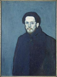 Pablo Picasso (1881-1973) : Autoportrait (1901 - Paris, musée Picasso)