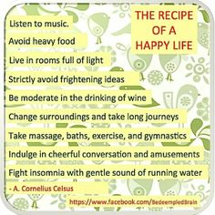 Recipe for a happy life ....