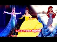 Neon Lights Disney - YouTube