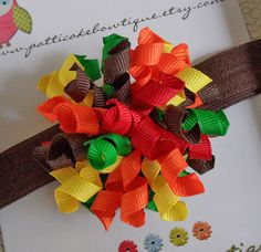 Baby's First Thanksgiving Korker Hair Bow - Baby Korker Headband - Infant Korker Hair Clip - Korker Bow on Etsy, $5.50