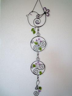 Wire Crafts, Metal Crafts, Copper Wire Art, Wire Jig, Princess Crafts, Wire Weaving, Garden Crafts, Beads And Wire, Tree Art