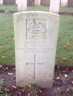 Private A.Atkinson. Chapelle D'Armentieres. Shot at dawn for desertion