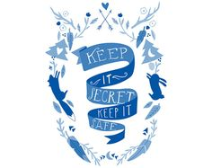 Keep It Secret Keep It Safe by bunnydee on Etsy, $25.00