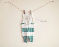 Stripes & Lace - 3-6 month Romper