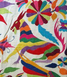 Otomi Embroidery Mexico by Teyacapan, via Flickr