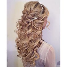 Half-up Curly hairstyle- Wedding Hair
