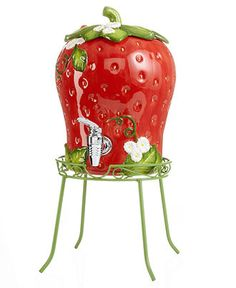 Martha Stewart Collection Serveware Strawberry Beverage Dispenser Serveware - - Serveware - Ideas of Serveware - Martha Stewart Collection Serveware Strawberry Beverage Dispenser Serveware Dining & Entertaining Macy's Strawberry Art, Strawberry Kitchen, Vintage Strawberry Shortcake, Strawberry Patch, Cute Kitchen, Red Kitchen, Kitchen Items, Strawberry Decorations, Strawberry Fields Forever
