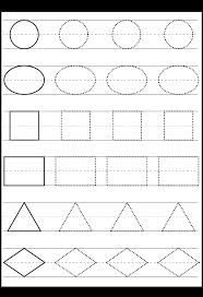 shape tracing, could laminate and use dry erase for a fun center