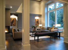 Shaker style columns: White Rock Staging - contemporary - living room - vancouver - Space Harmony