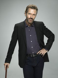 Hugh Laurie as Dr. Gregory House in HOUSE on FOX.