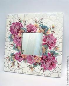 Mosaic Artwork, Mosaic Wall Art, Mirror Mosaic, 3d Wall Art, Mosaic Glass, Mosaic Tiles, Mosaics, Mosaic Crafts, Mosaic Projects