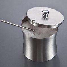Stainless SteelSpice Jar Sanded Waist Type Spice Jar Salt Sugar Spice Jar Food Grade For Home And Kitchen Supplies