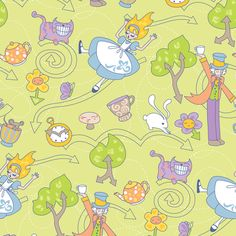 Directions To The Party fabric by jillianmorris on Spoonflower - custom fabric Cute for little girls pjs