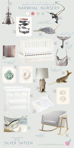 California Peach: Narwhal Nursery | Nursery / Baby Room