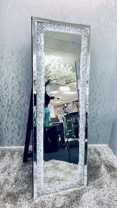 Sparkly Bedroom, Glam Bedroom, Room Ideas Bedroom, Bedroom Decor, Glitter Bedroom, Stand Up Mirror, Led Mirror, Tall Mirror, Mirror With Lights