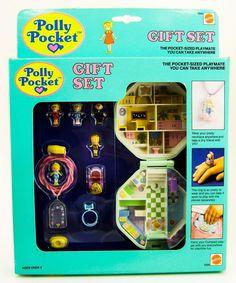 Bluebird Polly Pocket Gift SET School Compact Ring Necklace 5 Dolls MIB NEW   eBay