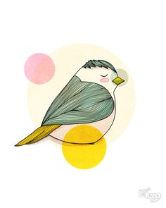Nan Lawson A little Bird art illustration