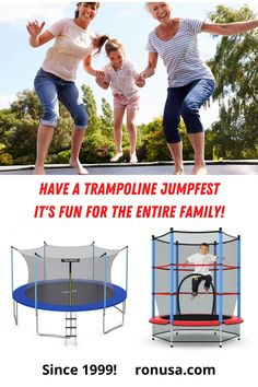 Check out huge assortment of TRAMPOLINES. They are guaranteed to bring tons of fun! #trampoline