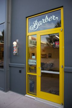Barber Shop —Lettering by Everett Katigbak, Gilding and painting by Damon Styer at New Bohemia Signs